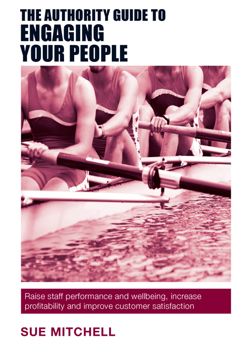 The Front Cover: The Authority Guide to Engaging your People by Sue Mitchell
